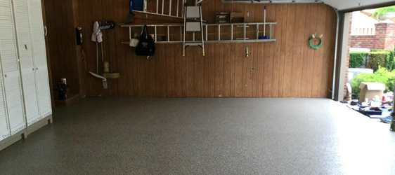 Metallic Epoxy Garage Floor