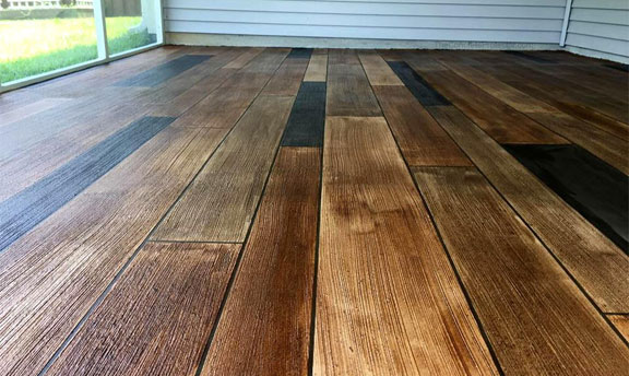 Concrete Wood Flooring That